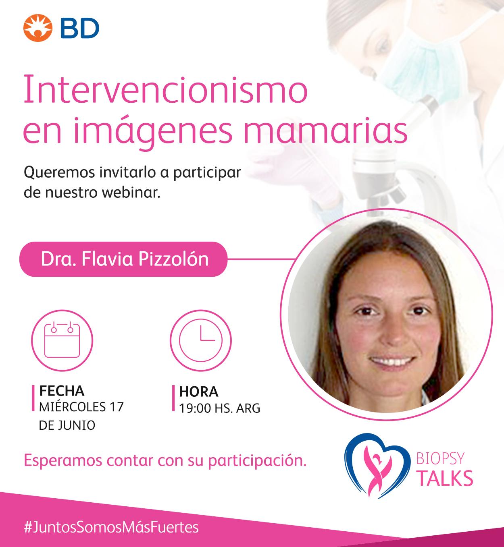 Invitación Dra. Flavia Pizzolon